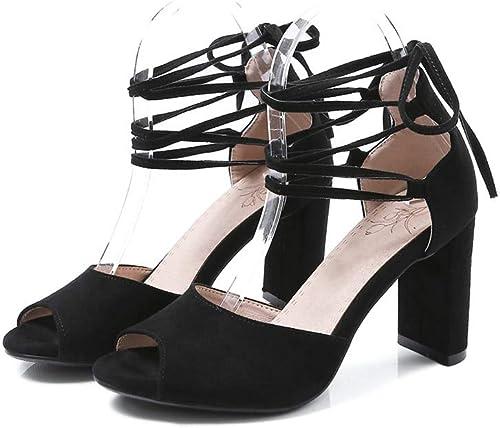 HommesGLTX Talon Aiguille Talons Hauts Sandales Haute Qualité Femmes Sandales Croix Attaché Grande Taille 33-43 Chaussures D'été élégant Peep Toe Chaussures à Talons Hauts
