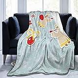 2021 New Ultra-Soft Fleece Blanket for Adult Anti Fleece Blanket Fairy Playing Trumpet Halo Spiritual Wings with Xmas Birds Balls Celebration Soft Comfortable Sofa Throw Blanket 80'x60'