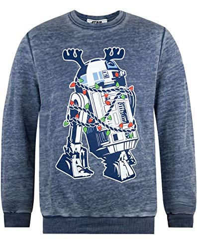 Vanilla Underground Star Wars R2D2 Decorations Burnout Christmas Sweatshirt