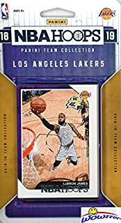 Los Angeles Lakers 2018/2019 Panini Hoops NBA Basketball EXCLUSIVE Factory Sealed Limited Edition 11 Card Team Set with LEBRON JAMES, Lonzo Ball, Kyle Kuzma, Brandon Ingram & Many More! WOWZZER!