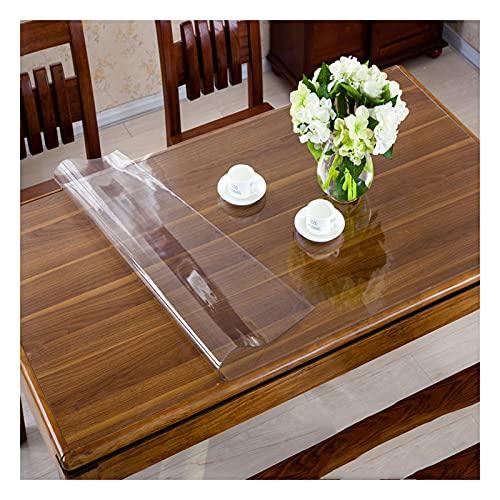Sonakia Cubierta De Mesa,Mantel De Cristal Transparente Limpiable,Almohadilla Protectora De Vinilo Plástico,manteles Rectangular,para Comedor,Cocina,Escritorio,1.5 Mm,90x140cm,85x135cm/33.5 * 53in