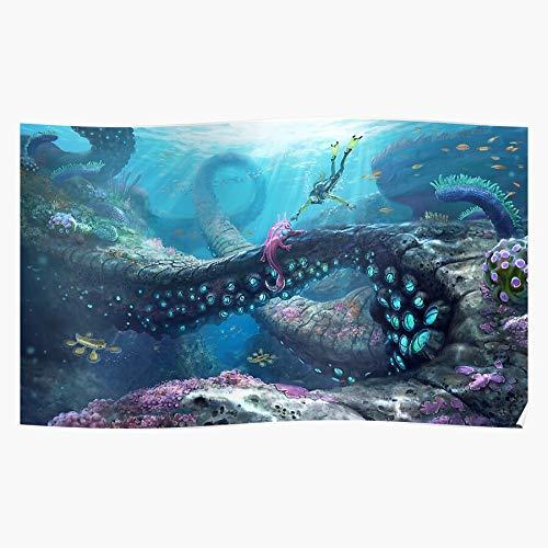 Bargaineddeals Fi Unknown Diving Worlds Gamer Games Subnautica Diver Sci Underwater Home Decor Wandkunst drucken Poster !