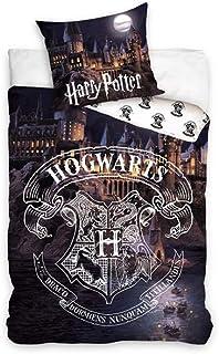 Potter Harry Juego de ropa de cama infantil, funda nórdica de 140 x 200 cm y funda de almohada de 63 x 63 cm, algodón