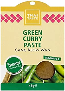 Thai Taste Green Curry Paste Sachet 43g - Pack of 6