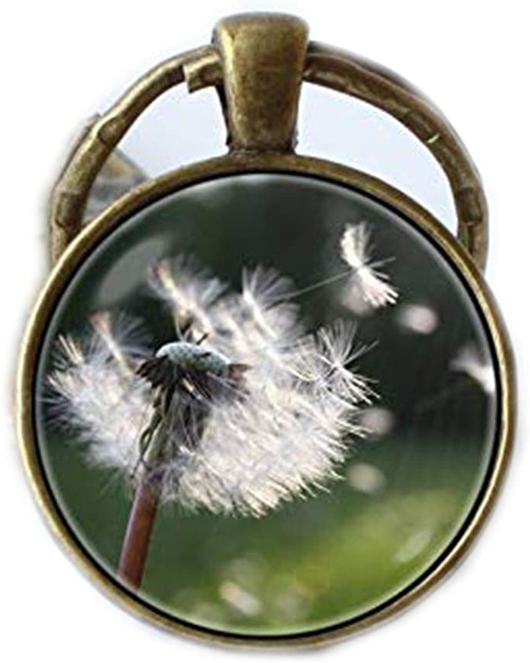 Art Picture Key Chains,Botanical keyring Dandelion seeds Keychain Dandelion jewelry Dandelion key fob Flower jewelry Flower keyring Plants key chain Wish key ring,Gift of love