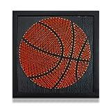 ZMIN DIY String Arts Baloncesto Oficina Decoración Decoración para el hogar para niños Adultos 30x30cm