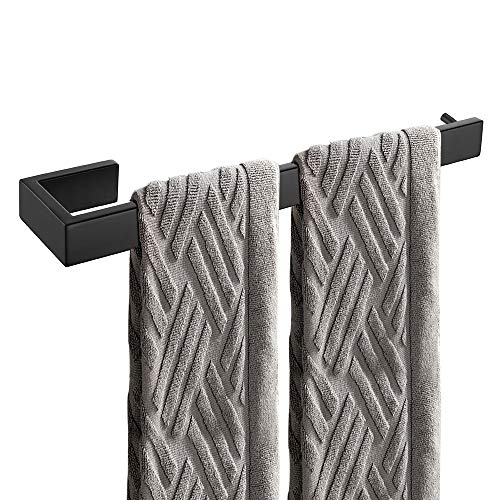 Celbon 35cm Handtuchhalter Gebürstet 304 Edelstahl Handtuchstange Badetuchhalter Wandmontage Handtuchring für Bad und Küche