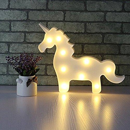 37YIMU - 3D LED unicornio noche lámpara luz para fiesta boda Navidad regalos decoración luz...