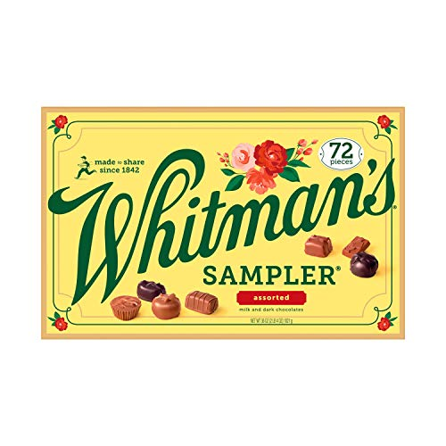 Whitman#039s Sampler Gift Box of Assorted Chocolates 36 Ounce 72 Pieces