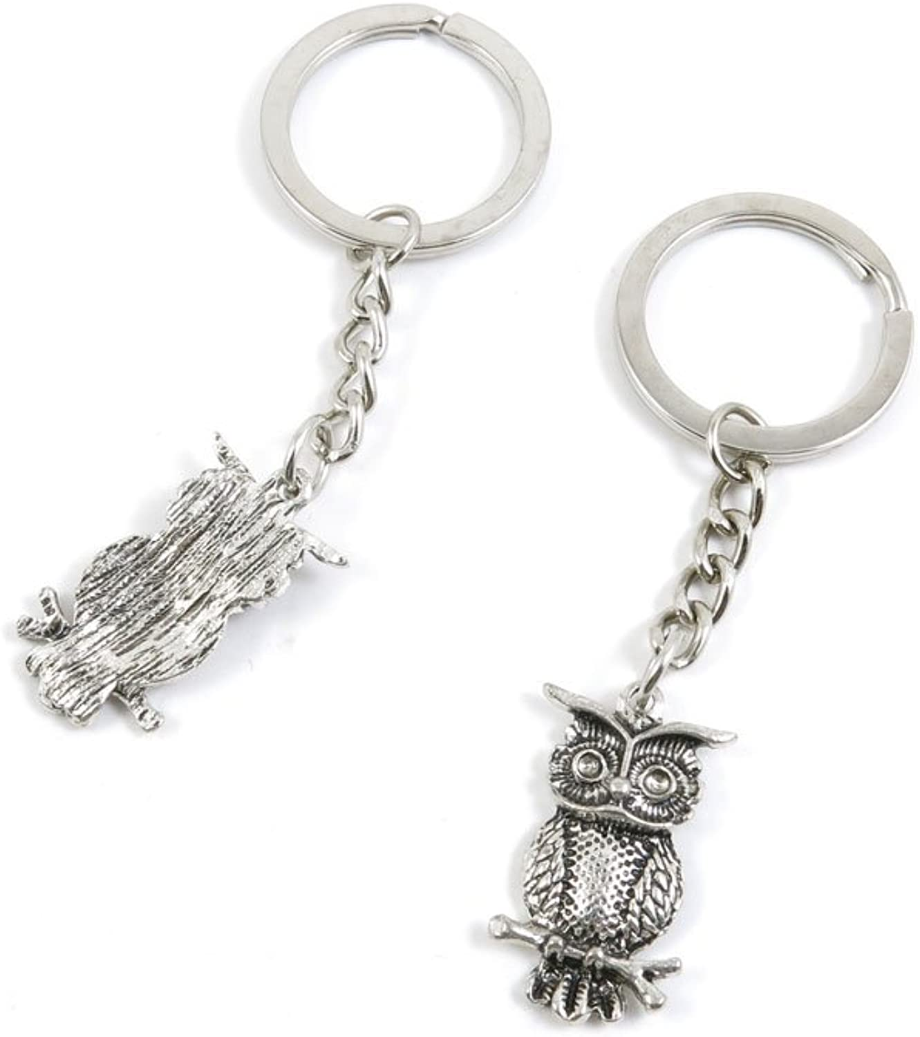 170 Pieces Fashion Jewelry Keyring Keychain Door Car Key Tag Ring Chain Supplier Supply Wholesale Bulk Lots C0WY3 Owl