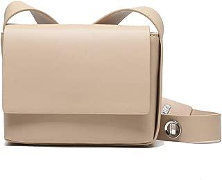 Fashion New Retro Casual Fashion Bills Shoulder Slung Small Handbag Female Cowhide Bag (Color : Beige)