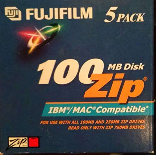 Fujifilm 5PK Zip Data CART 100MB-PC/MAC FMT (25275005)