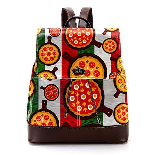 KEAKIA Women's Leather Backpack Schoolbag Shoulder Bag Casual Daypack Style Flap Backpacks for...