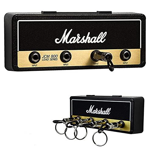 Llavero Marshall Pared, Enchuf Pared 4 Rack Pared, Almacenamiento de Pared de Ganchos de Enchufe de Guitarra, Soporte para llavero Amp, Conjunto de Llavero Negro