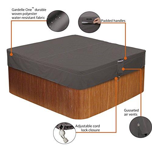 Classic Accessories 55-885-035101-EC  Ravenn   a Water-Resistant 86 Inch Square Hot Tub Cover,Medium