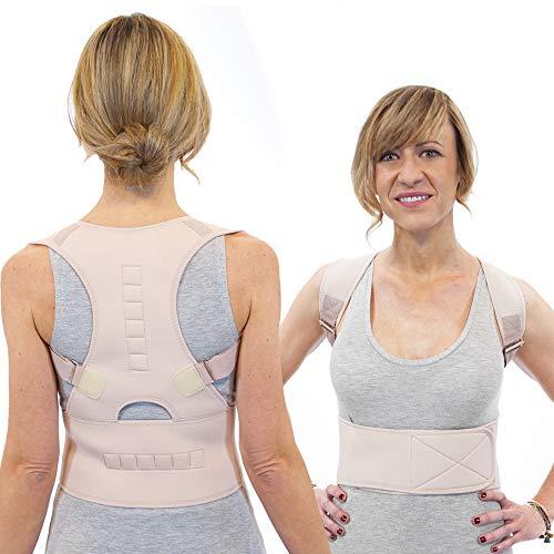 Active Posture Correttore Posturale Spalle e Schiena Fascia Per Mal di Schiena Lombare Regolabile Uomo Donna Novità 2020 Versione Aggiornata Con 12 Potenti Magneti Fascia Lombare Supporto Schiena (L)