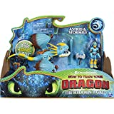 Dreamworks Dragons, Stormfly and Astrid, Dragon with Armored Viking Figure, for Kids Aged 4 and Up, Multicolor