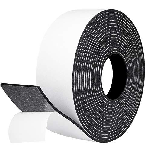 Moosgummi Selbstklebendes Dichtungsband 50mm(B) x3mm(D) x 2M(L) Schaumstoffband Fenster-Türdichtung Ceranfeld für Kollision Siegel Schalldämmung Gesamtlänge