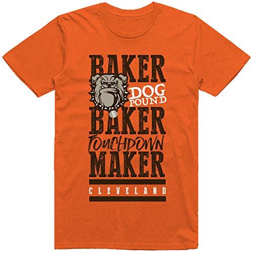 INKpressionists Baker Baker Touchdown Maker Cleveland Football Fans Classic Dri-Power T-Shirt (Burnt Orange, 3X)