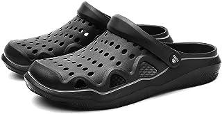 YVWTUC Męskie sandały z zamkniętym palcem letnie kapcie oddychające trwałe buty