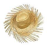 S/o 10Pack paja sombrero hawaii con flecos rafia sombrero sombreros de paja Hawaii Party