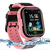 Kids Smart Watch for Girls Boys, IP67 Waterproof Kids Smart Watch with GPS Tracker, 2 Ways Phone...