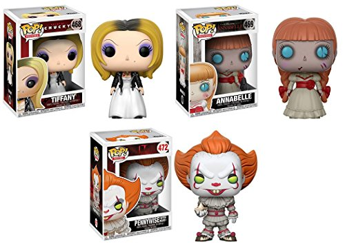 Funko POP! Tiffany + Annabelle + Pennywise - Horror Movies Vinyl Figure Set NEW
