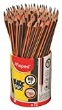 Maped Black'Peps Triangular Graphite #2 Pencils School Pack, Pack of 72 (851759ZV)