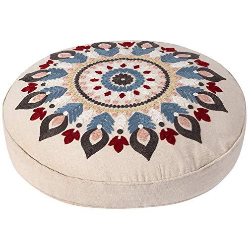Round Decorative Floor Seating Cushion Boho Meditation Throw Pillow
