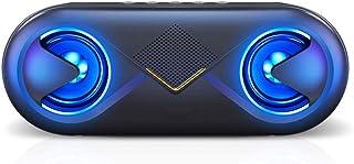 $49 » KAOROU Bluetooth Speaker Portable Speaker Bluetooth 5.0 Wireless Speaker with HD Bass LED Speakers Playtime Built-in Mic