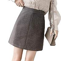 防寒巻きスカート 秋冬のハイウエストウールスカート アンチグレアショーツ フレッシュで甘いスタイル グレー L