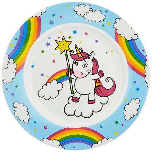 WMF Einhorn Kindergeschirr Kinderteller 19,0 cm, Porzellan, spülmaschinengeeignet, farb- und lebensmittelecht