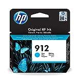 HP 912 3YL77AE, Cian, Cartucho de Tinta Original, compatible con impresoras de inyección de tinta HP OfficeJet Pro Series 8010; 8020