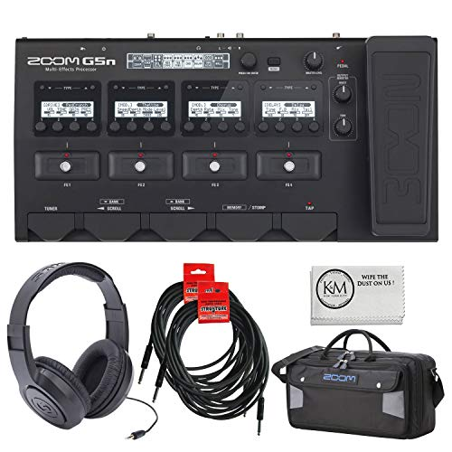 Zoom G5n Multi-Effects Processor + Zoom SCG5 Carry Case + Two 18.6' Instrument Cables (4 items)