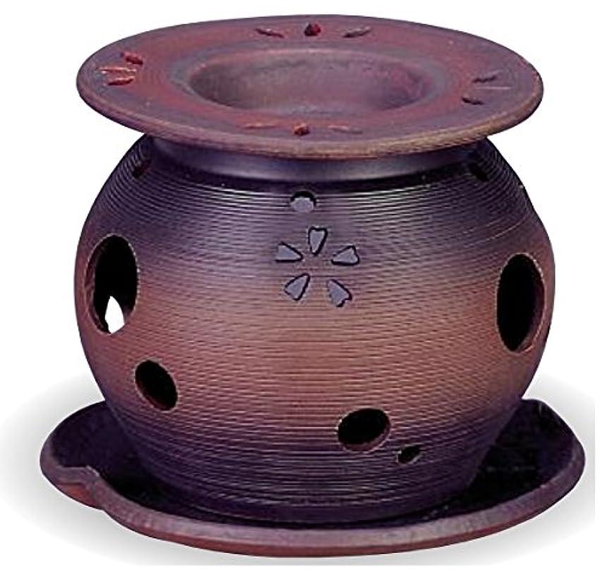 あなたは糞国籍常滑焼 茶香炉(アロマポット)径11×高さ10cm