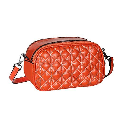 Geestock Women Crossbody Bag Designer Handbags PU Leather Shoulder Bag for Work Shopping Travel Party Daily Use (Orange)