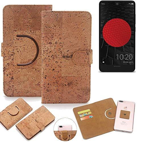 K-S-Trade® Handy Schutz Hülle Für Sharp Aquos C10 Korkhülle 1x