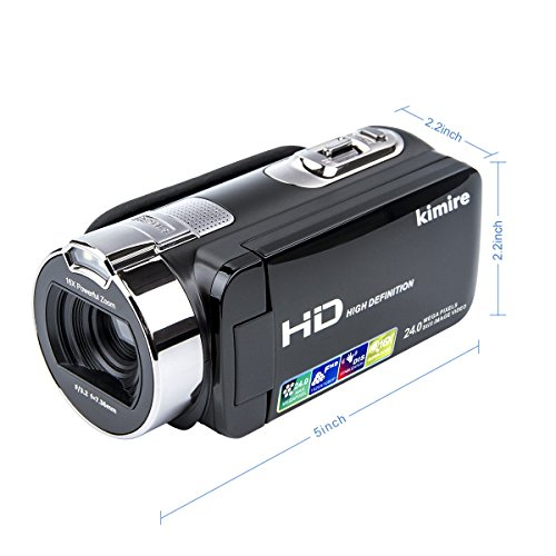 Vlogging Camera Video Camera Camcorder Digital Recorder,Kimire HD 1080P 24 MP 16X Powerful...