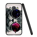 ZhuoFan Coque Samsung Galaxy J5 2016, Etui en Silicone Noir avec Motif 3D Fun Fantaisie Dessin Antichoc TPU Gel Housse de Protection Case Cover Coque pour Téléphone SamsungJ5 5.2 Pouce, Chat 3
