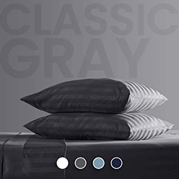 SLEEP ZONE Bed Sheet Sets Cooling Temperature Regulation Soft Queen Gray
