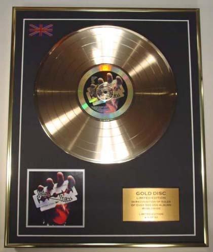 Judas Priest/CD Gold Disc Platte, Limitierte Edition/britischer Stahl