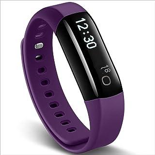 YYL@ZNSH Pulsera Actividad,relojes inteligentes Bluetooth 4.0 a prueba de agua, podómetro para niños, mujeres y hombres Monitor de Sueño/Púrpura