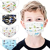 mystcare Kids Disposable Face Mask 50 Pack Ages 5-12 Filter 3-Layer Safety Face Masks for Kids Daily Use.All Metal Nose Clip