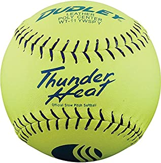 Dudley USSSA Thunder Heat Classic W Stamp Softball - Leather Cover - 12 pack