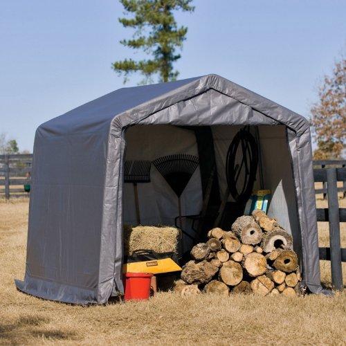 ShelterLogic Foliengerätehaus Gerätehaus in-a-Box 9 m² // 300x300 cm // Foliengarage und Aufbewahrungsgarage für Alles