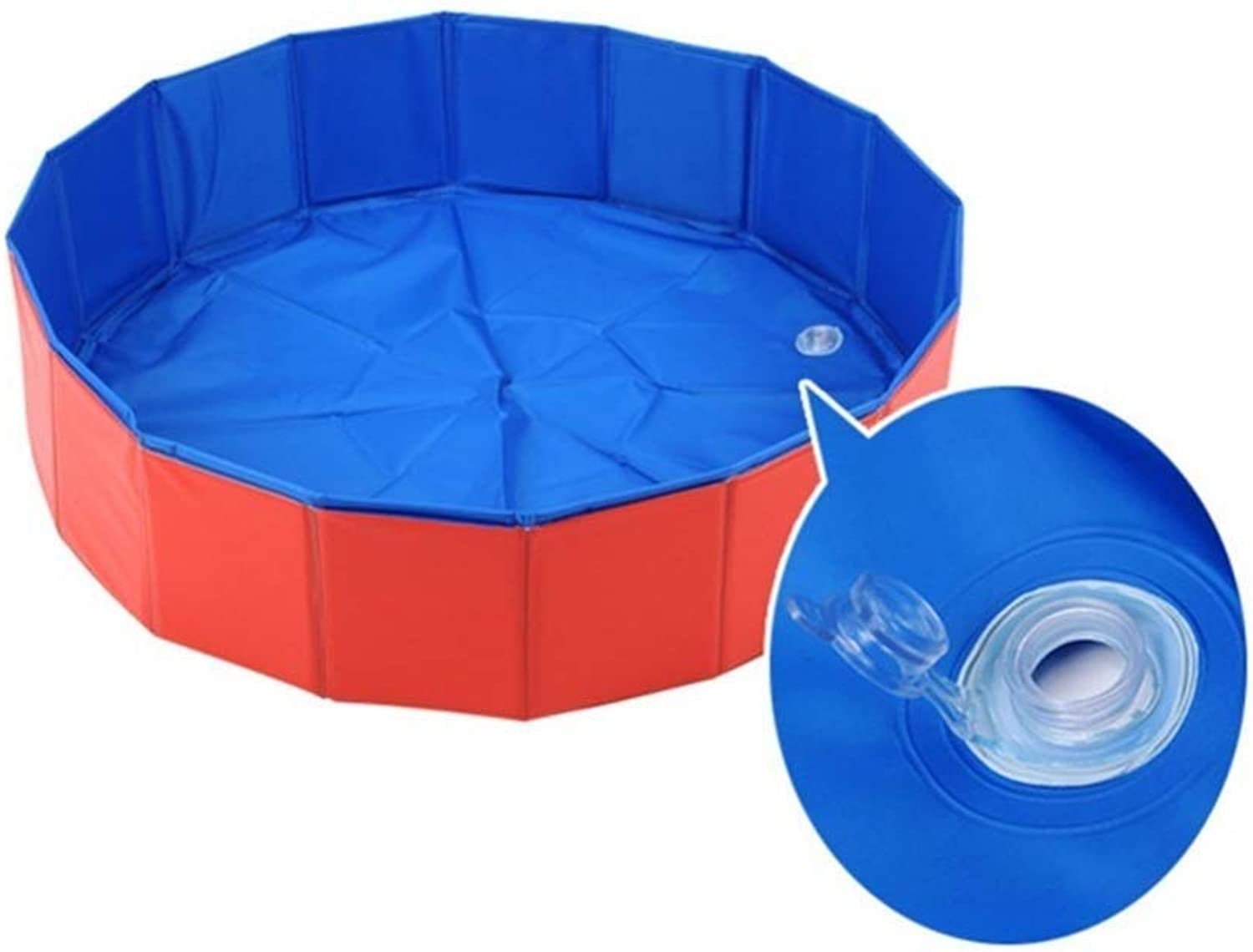 Pet Bath, PVC Pet Pool, Portable Collapsible Swimming Pool, Suitable for Medium and Large Pets, Indoor and Outdoor, Easy to Clean (Size   60x20cm)
