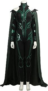 Hot Thor 3 Ragnarök Hela Cosplay Costume Halloween Jumpsuit Cape Customize B