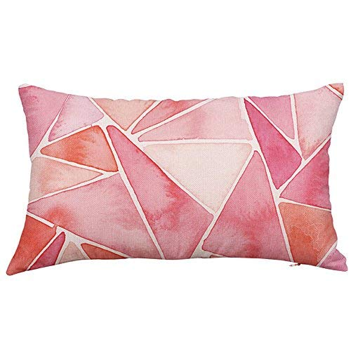 Pillowcase Rectangle Cushion Cover Silk Throw Pillow Case Pillowcase Home & Garden