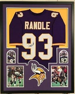 John Randle Autographed Signed Framed Signed Minnesota Vikings Jersey JSA COA