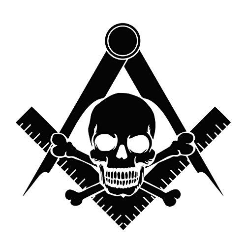 Widow's Son Square & Compass Masonic Vinyl Decal - [Black][6 Inch]